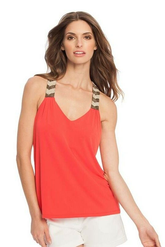 GUESS BY MARCIANO ELAINA EMBELLISHED TANK