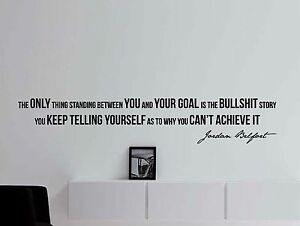 Jordan Belfort Quote Wall Decal Motivational Quote Office X - Wall decals motivational quotes