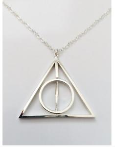 Harry Potter Deathly Hallows Silber Dreieck Anhänger ...