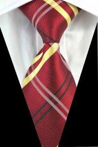 100% Wahr Geschenke Für Männer Klassische Herren Kariert Streifen Seidenkrawatte Tie Dark