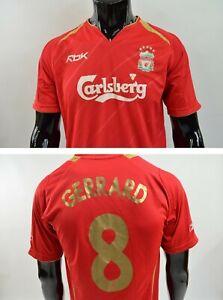 official photos 3eb7b 8230e 2005-06 REEBOK Liverpool FC GERRARD 8 Home Champions League ...