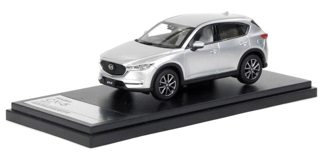 Hi-Story HS193SL 1 43 Mazda CX-5 (2017) argento Metálico Diecast Modelo Coches De Sonic