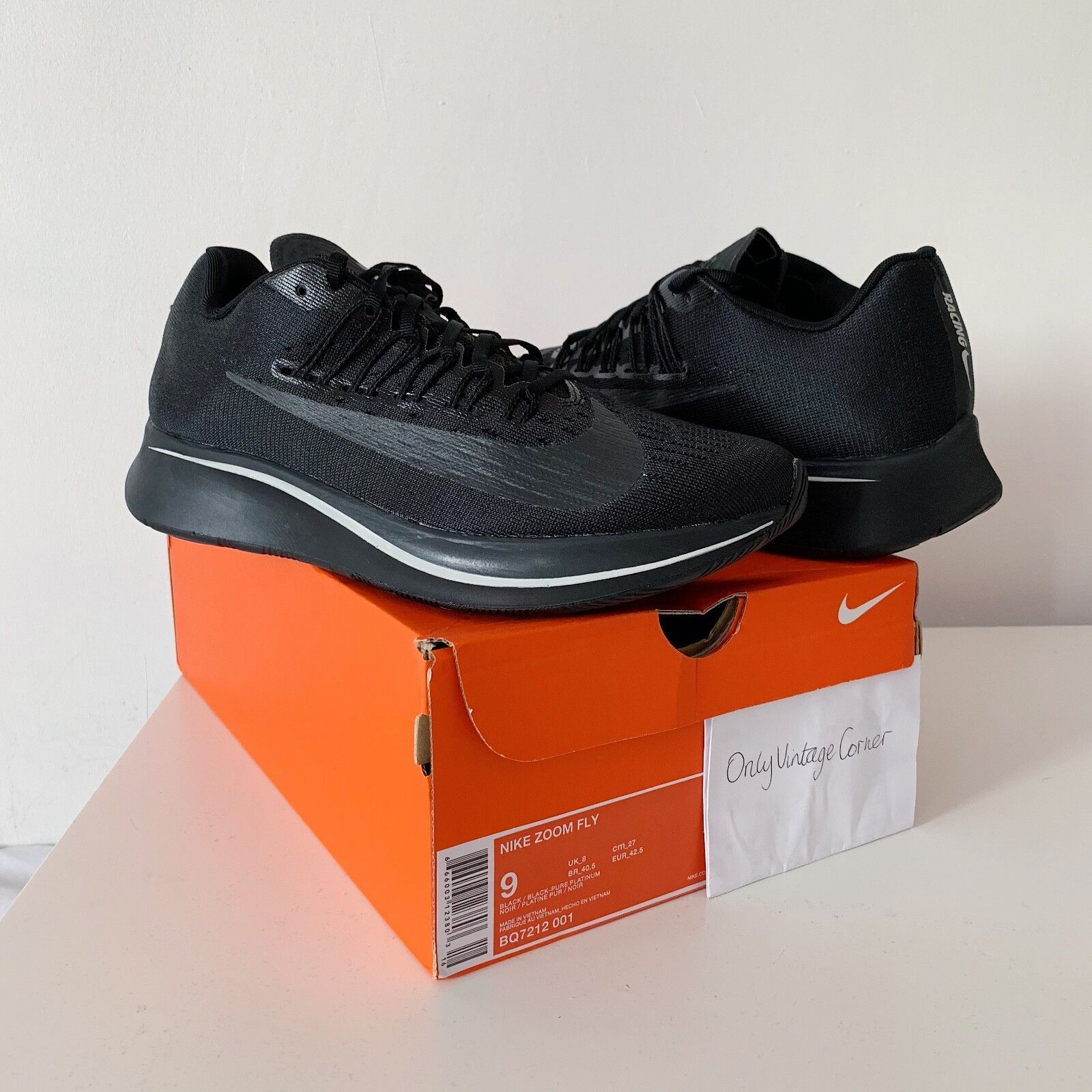 Nike zoom fliegen jd sports schwarz exclusive schwarz sports / cremefarbig uk8 ab bnib 100% echt b4e0a1