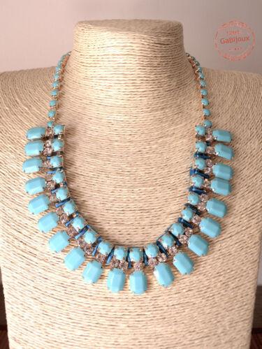 Collana Perle Nero Plastica con Strass VARI COLORI Estiva DONNA Gothic Moderna