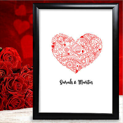Anniversary Gifts Personalised Card For Him Her Boyfriend Girlfriend Couples