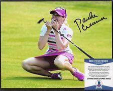 Paula Creamer (Golf) Signed 8x10 Photo Beckett BAS COA AUTO Autograph