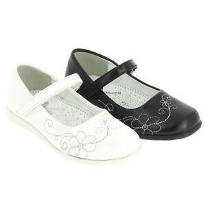 Kinder Mädchen Ballerina Sandalen Schuhe Hochzeit weiß schwarz Gr. 21-27