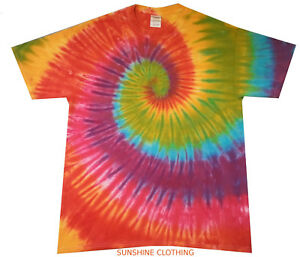 Tie Dye Childrens T Shirt various designs Hand dyed in the UK