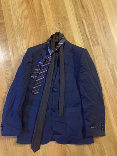 """""""Mavezzano Red"""" Boys Linen Navy Color Suit Size 16"""
