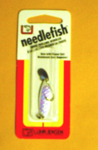 Luhr Jensen Needlefish 1051-001-0581 Sz 1 Pearl Fish Scale with Flipper Tail