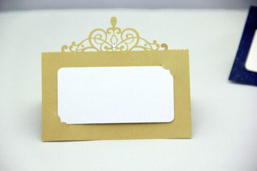 Or//marron découpe laser fête de mariage nom table place cartes gratuit stand qualité