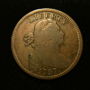 1797-1c-Draped-Bust-Large-Cent-Choice-Fine-S-138-Variety-with-Stems-Penny
