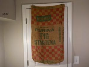 Vintage-100-lbs-PURINA-CHOWS-Feed-Seed-Burlap-Sack-Bag