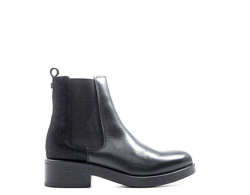 Mujer Guess Zapatos botas al Tobillo Bajo Bajo Bajo Negro Cuero Natural, Tela flmor 3LEA10-BLA  tienda en linea