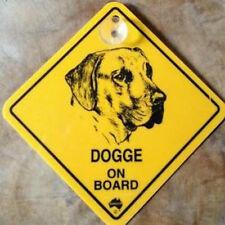 12cm Roadsign Schild mit Saugnapf DOGGE Warnschild Hund