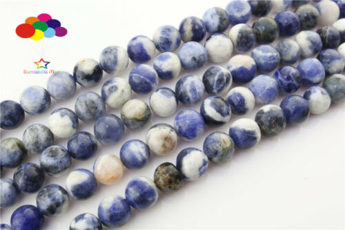 Loose Charm 4//6//8//10//12mm Natural Agate Gemstone Round Spacer Beads TRBS107