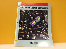 M/A-Com Omni-Spectra 1992 Microwave Coaxial Connectors Products Catalog