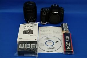 Canon EOS 80D EF-S 18-135mm IS USM Digital Camera Lens Kit Japan Domestic New