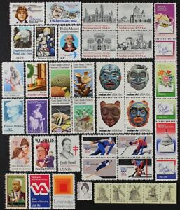 US 1980 Commemorative Year Set collection 43 stamps inc Airmail C98-C100 Mint NH