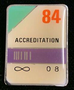 Rare Vintage 1980s 84 Accreditation Infinity 0 8 Advertising Pin! WPIN070