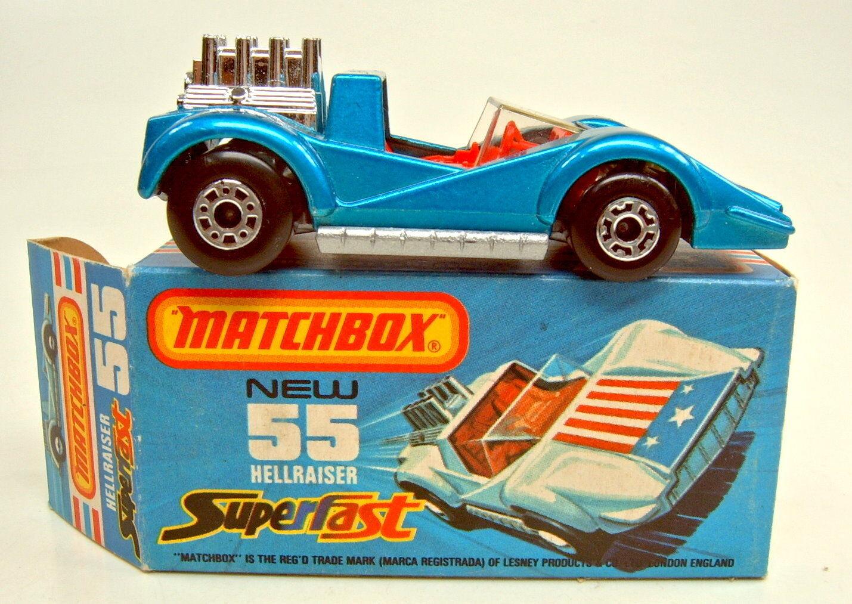 Matchbox SF Nr.55C Hellraiser blue rede Einrichtung top in Box