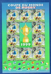 France-Bloc-N-26-Coupe-du-Monde-de-Rugby-1999-Neuf-Luxe