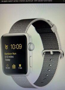 Apple Watch Series 2 42mm Case Space Gray Aluminium Woven Nylon Black Ebay