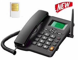 TELEFONO CON SIM CARD GSM FISSO DA SCRIVANIA TIM VODAFONE WIND ILIAD POSTE MOBIL