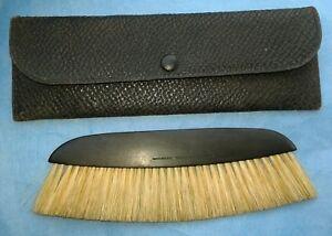 Vintage-Antique-Clothes-Brush-Loonen-039-s-France-Genuine-Ebony-Handle-With-Case