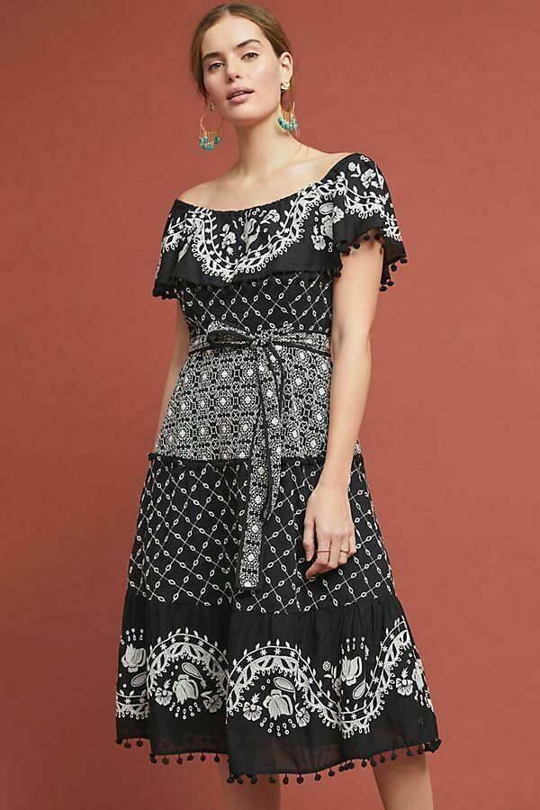 New Anthropologie Marisol Off-The-Shoulder Dress by Anthropologie .size 6