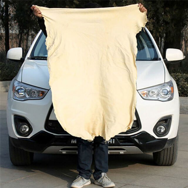Natural Chamois Leather Car Cleaning Cloth Washing Absorbent Drying Towel POP AU