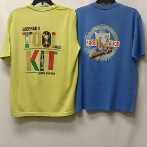 Tommy-Bahama-Men-039-s-2-Pack-2nd-Quality-T-Shirts-Small