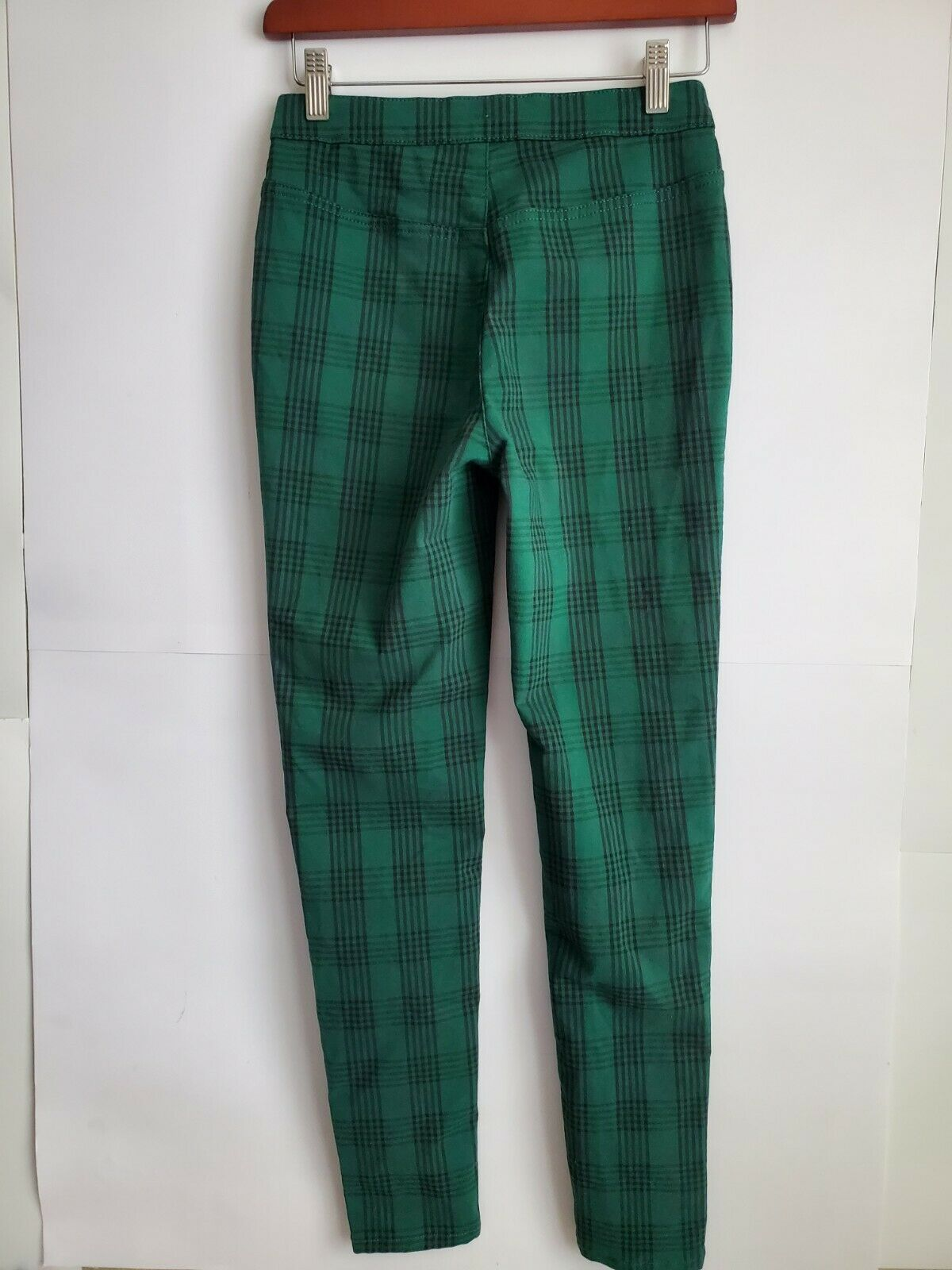 Free People  Women's Green Plaid Skinny Pants, Si… - image 3