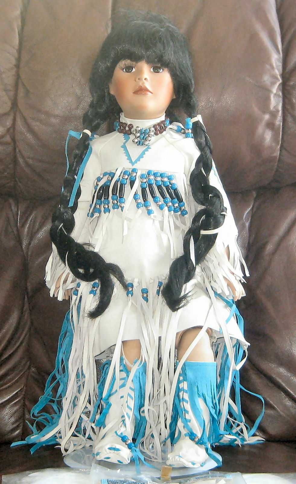 American Artists Collection Porcelain Doll By KAIS 'ANGEL FEATHER' Boxed