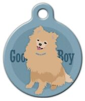 Good Boy Pomeranian - Custom Personalized Pet Id Tag For Dog And Cat Collars