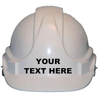 Personalised Own Wording Children/Kids Genuine Hard Hat Safety Helmet/Cap Unisex