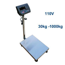 1322 Lb Digital Floor Bench Platform Scale Electronic Lcd Shipping Postal Scale