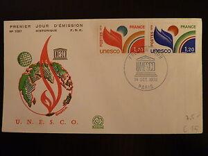 Constructif France Premier Jour Fdc Yvert 56/57 Unesco 1,70+1,20f Paris 1978