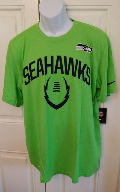 b35479743 Seattle Seahawks Nike NFL Men's Neon Green Legend Icon Performance T ...