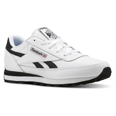 Reebok Men's Classic Renaissance White Black Athletic Shoe fashion running gym   eBay