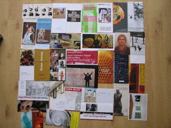 30 Einladungen, Prospekte Moderne Kunst 1!!!! Clear-Cut-Textur