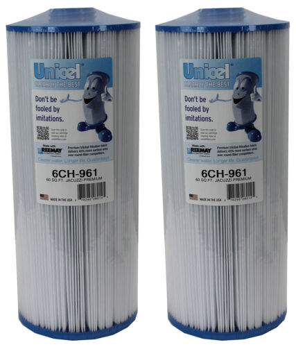 2 New Unicel 6CH-961 Replacement Jacuzzi Spa Filter Cartridges 60 Sq Ft PJW60TL
