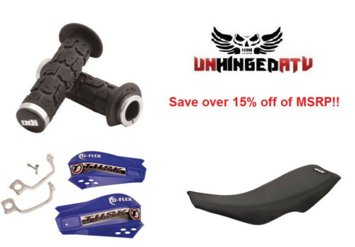 Yamaha YFZ 450 Parts Combo ODI Grips D-flex Hand guards Gripper Seat Cover