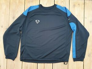 Homme-Nike-Training-Top-Chemise-a-manches-longues-football-taille-L-bleu