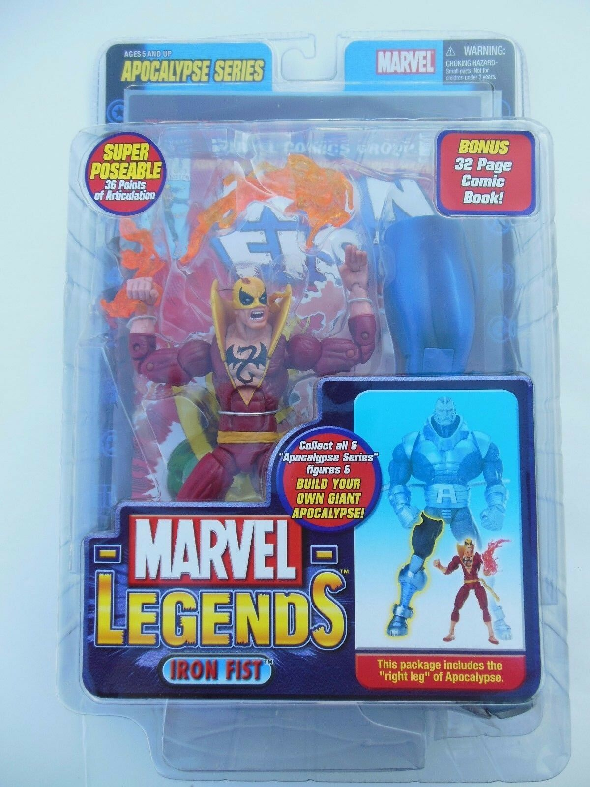 Marvel Legends IRON FIRST RED SUIT VARIANT    BAF APOCALYPSE SERIES  NIP c5a7ba