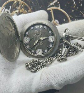 MOLNIJA-Cupid-Vintage-Pocket-Watch-USSR-VERY-RARE-Soviet-Watch-Erotic-18J-3602