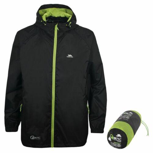 Black XXXL XXXXL New Trespass QikPac Adult Unisex Waterproof Packaway Jacket