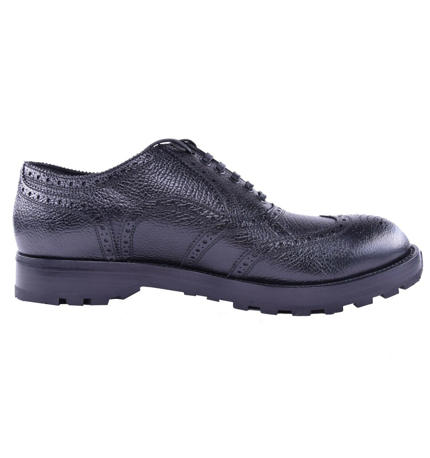 DOLCE & GABBANA Solid All-Weather Calf Leather Shoes Black 03890