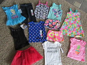 5bab51bae9a9 NEW LOT OF 12 BABY GIRL 24 MONTH 2T CLOTHING CARTERS DRESS PANTS ...