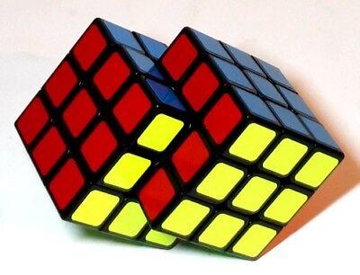 Brillante Scatola Fusi Cubi Di Rubik Cubo Di Fusione Sciolto Rubix Tortuosa Puzzle Siamese-mostra Il Titolo Originale